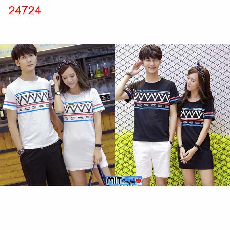 Jual Dress Couple Mini Dress Zigzag - 24724