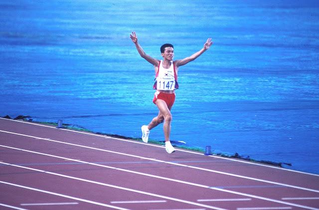 Young Cho Hwang vencedor de la Maratón de los JJOO Barcelona 92