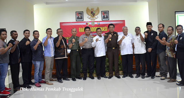 Undang Para Pendekar, Empat Pilar Koordinasikan Keamanan Pengesahan Warga PSHT Trenggalek Tahun 2018