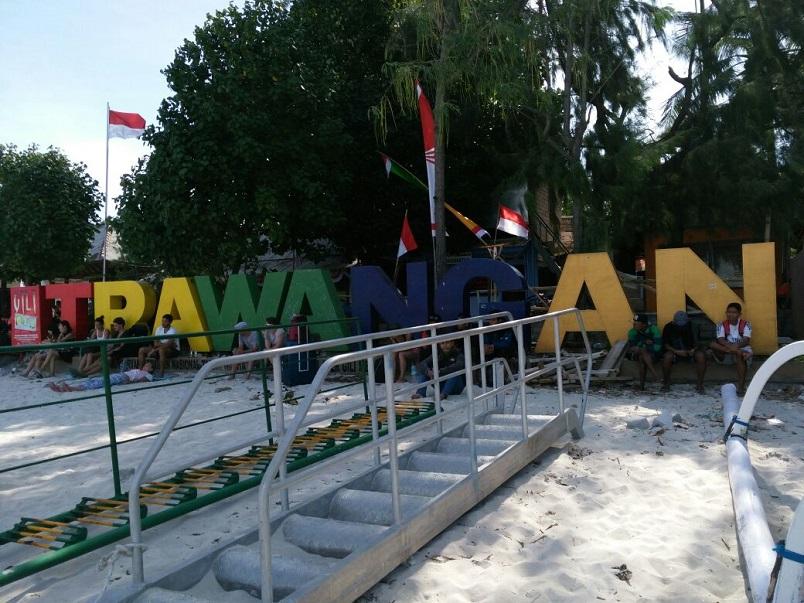 Pesisir Gili Trawangan Lombok
