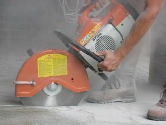Алмазная резка бетона сухим методом