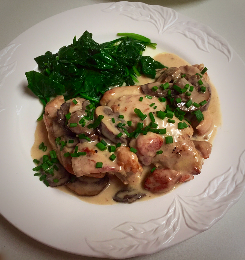 Jacques Ppins Poulet A La Crme Chicken In Cream Sauce