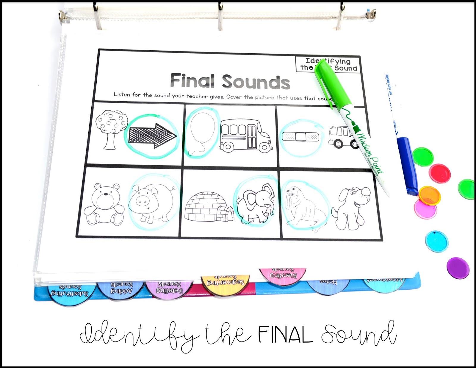 Sarah S First Grade Snippets Phonemic Awareness Rti