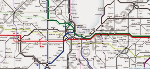 Maps Mania: The American Highways Transit Map