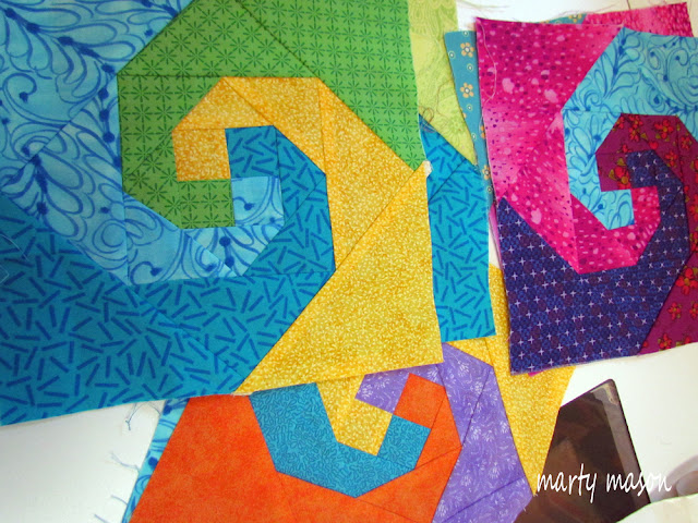 Snail's Trails Quilt Blocks