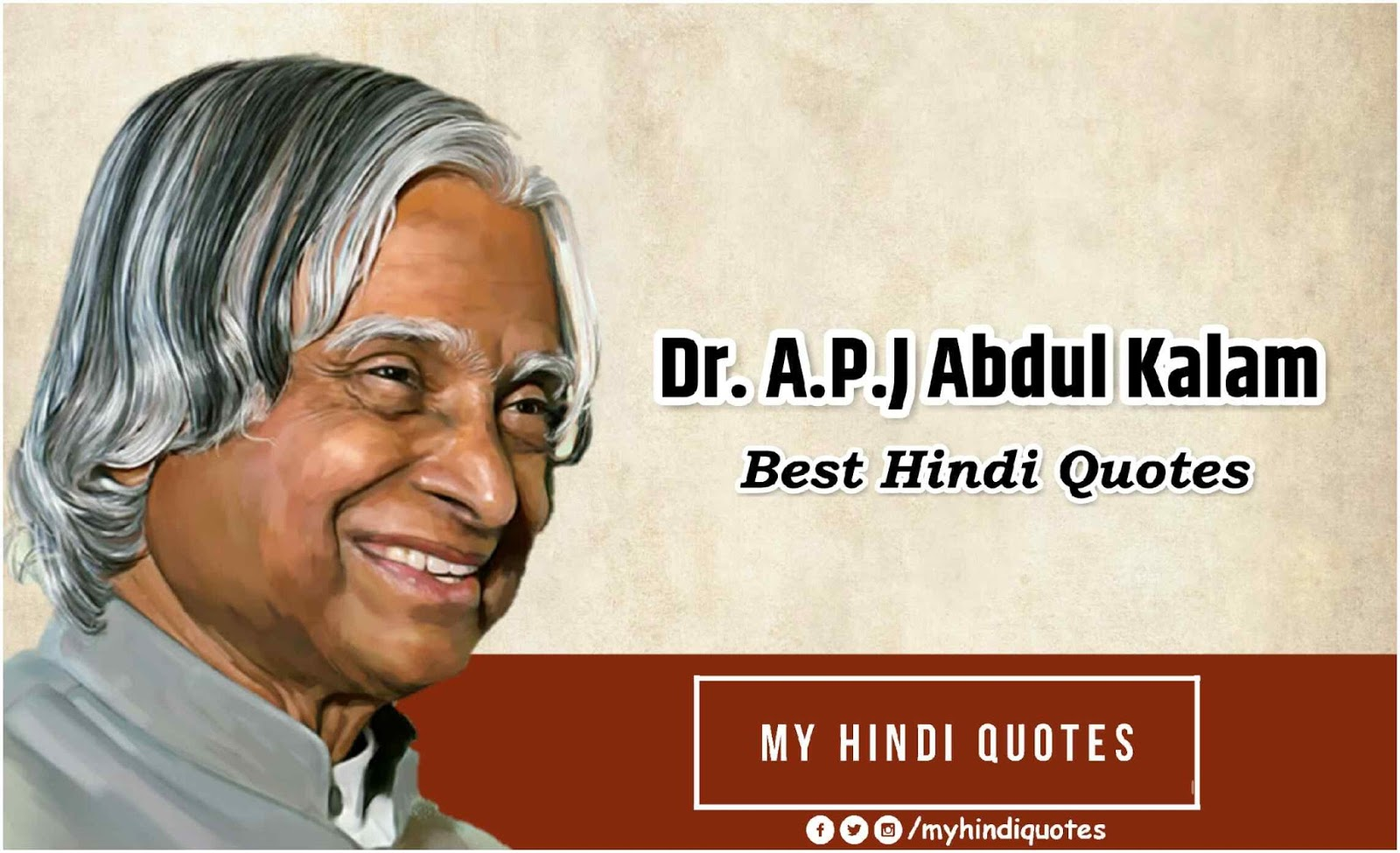 Dr. A.P.J. Abdul Kalam Best Hindi Quotes