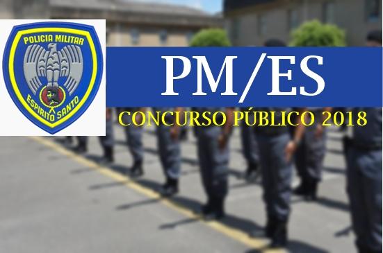 edital do concurso da PMES 2018