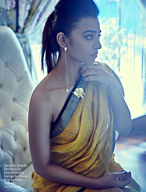 Radhika Apte Shoots for 'Sensual Saree' Issue of Pernias PopUp Shop E-Magazine