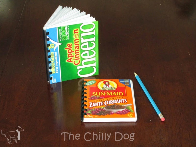 Project Tutorial: Recycle a cardboard cereal box into a handy notebook
