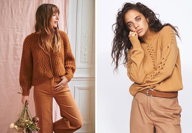 Монохромный образ с нейтральным свитером