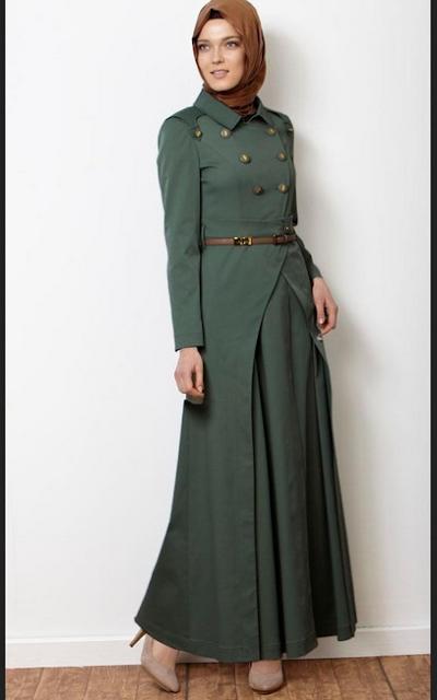 Model baju long dress terbaru untuk hijabers