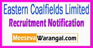 ECL Eastern Coalfields Limited Recruitment Notification 2017 Last Date 31-07-2017