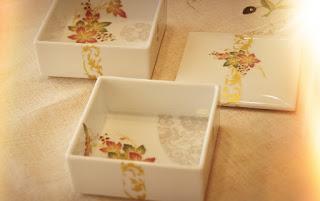 Atelier FINEMAICA Art Course 重箱 白磁 ポーセラーツ