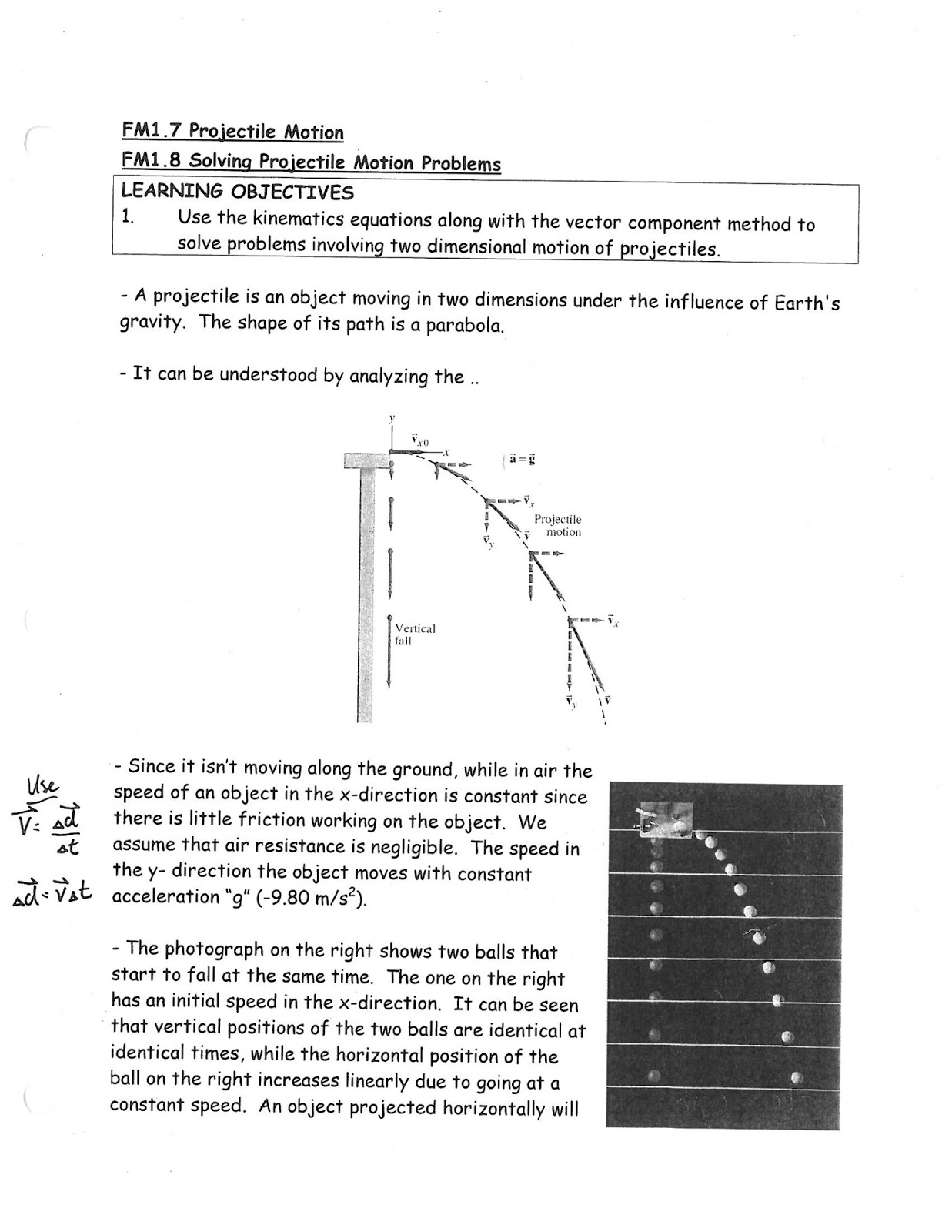 Constant Acceleration Kinematics Equations In Two Dimensions
