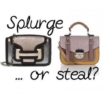 Splurge or Steal: Mini Colourblocked Bags