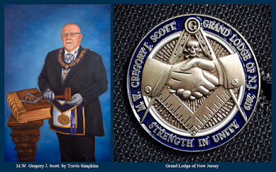 M.W. Gregory J. Scott. Past Grand Master. Grand Lodge of New Jersey. by Travis Simpkins