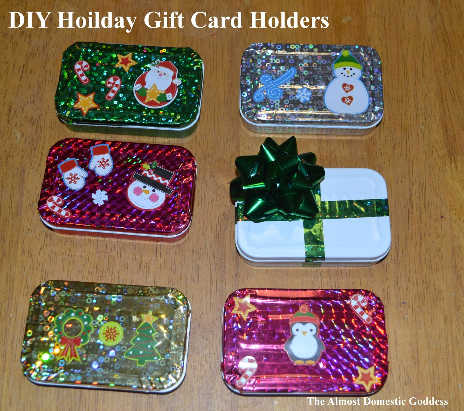 Diy Christmas Gift Card Holder: The Almost Domestic Goddess: DIY Holiday Gift Card Holders
