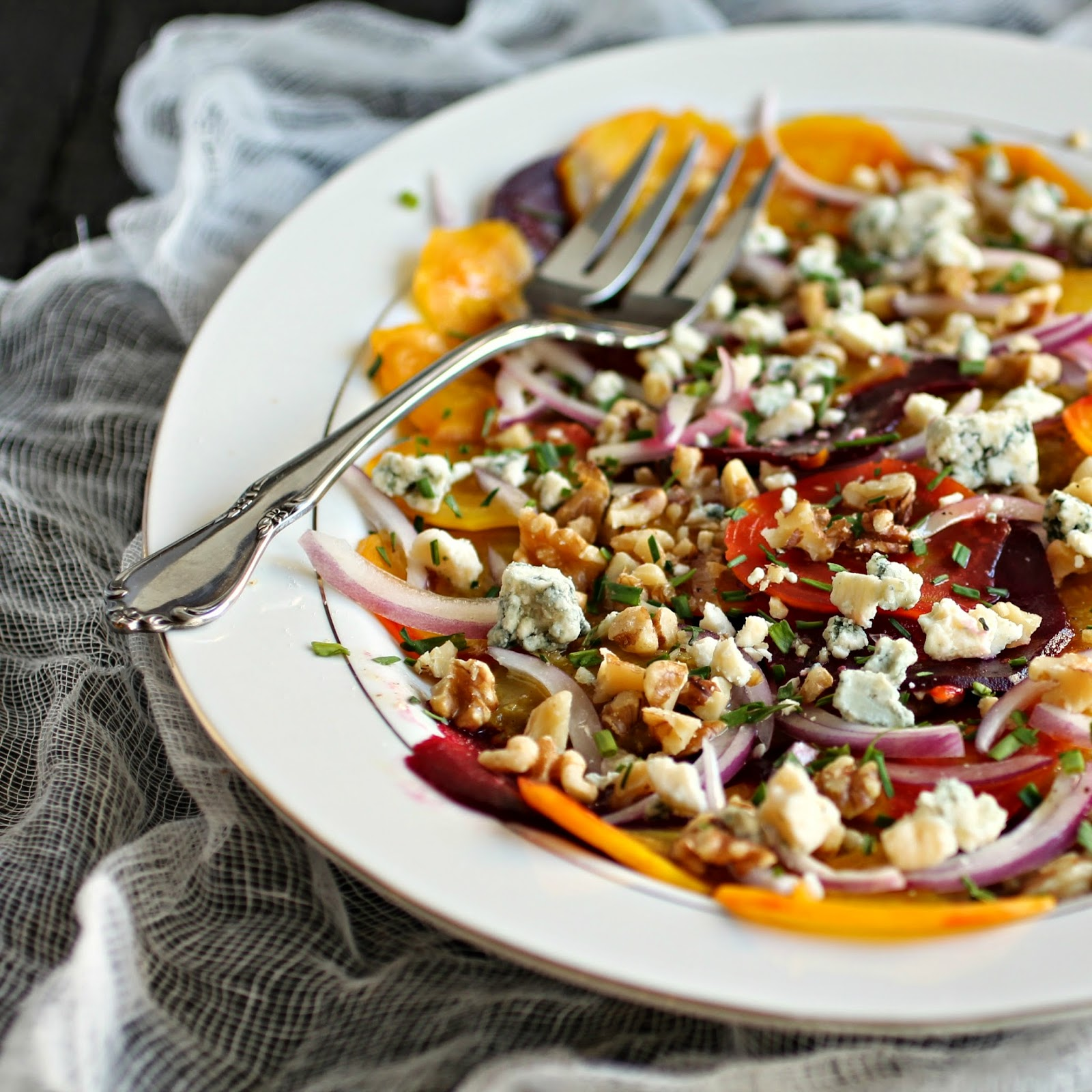 Beautiful Beet Salad with Walnuts and Gorgonzola