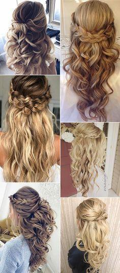 Wedding Hairstyles Half Up Half Down #Wedding #Hairstyles