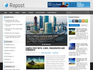 Repost blogger template