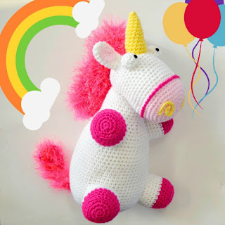 free fluffy unicorn crochet pattern