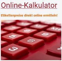 Online-Kalkulator für Etiketten