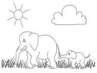 Wild African Elephant Printable Coloring Pages Realistic