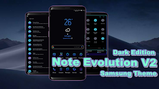 Download Tema Note Evolution ( Dark Edition ) v2 Samsung Oreo & Nougat