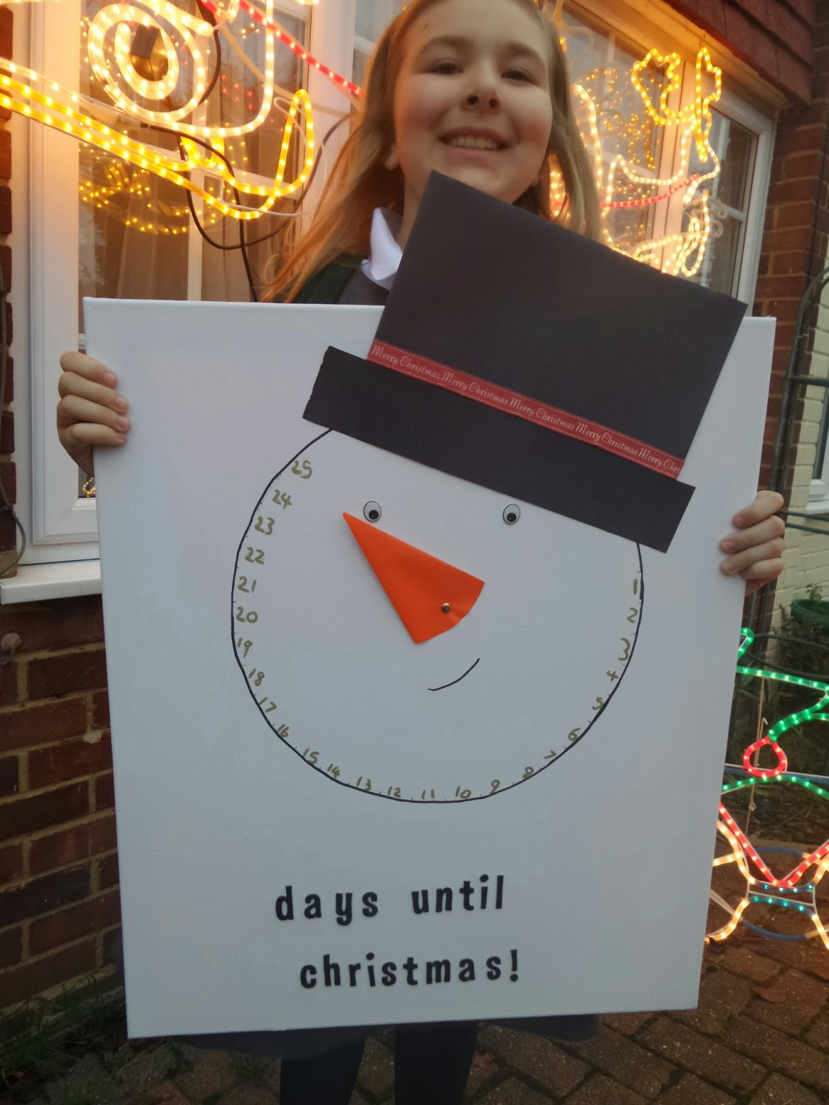Top Ender and her Snowman Christmas Countdown