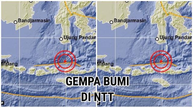 Gempa Berkekuatan 6,8 SR Guncang Manggarai Barat NTT