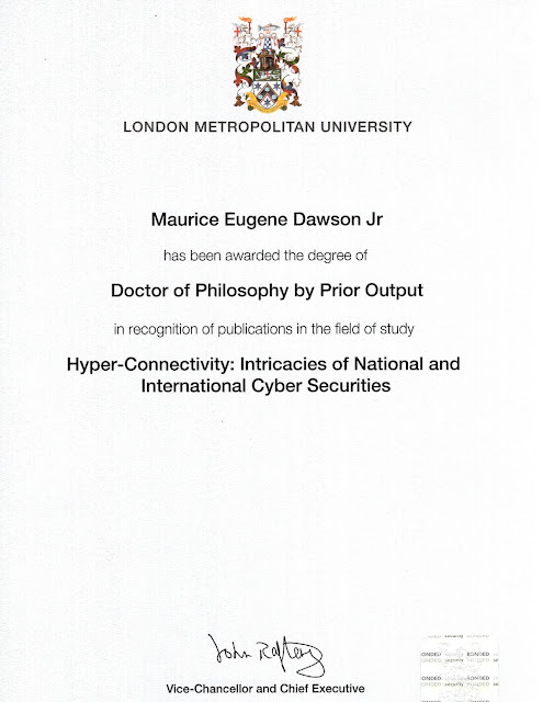Ph.D. by Prior Output Received in Mail