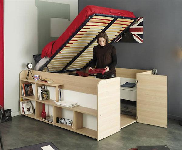 Pat multifuncțional pentru spații mici