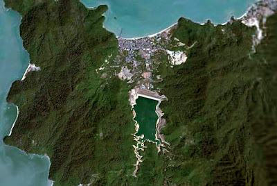 Penang Island at north east Malaysia from space