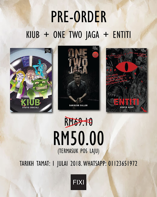 Pre-Order Novel FIXI - Kiub + One Two Jaga + Entiti