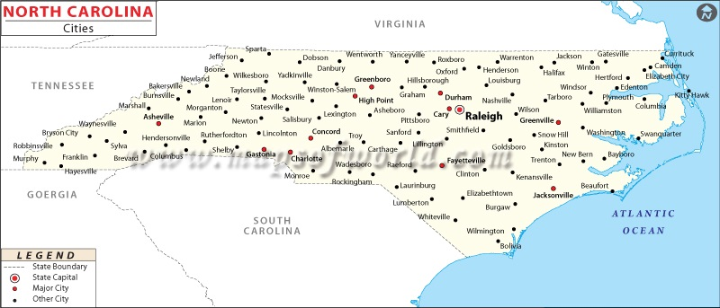 Charlotte North Carolina NC Profile Population Maps Real Sunset - North carolina on the us map