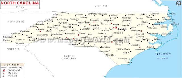 United States Map Map Of USA - Nc state map with cities