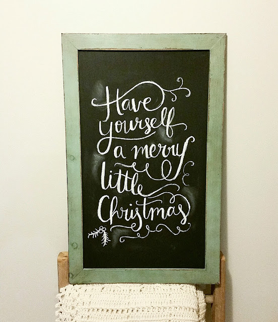 rustic Christmas holiday chalkboard decorations