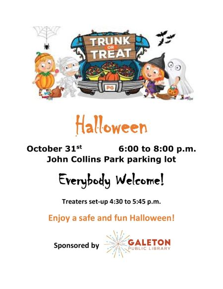 10-31 Galeton Library Trunk Or Treat
