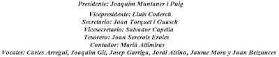 Junta directiva de la Federación Catalana de Ajedrez en 1961