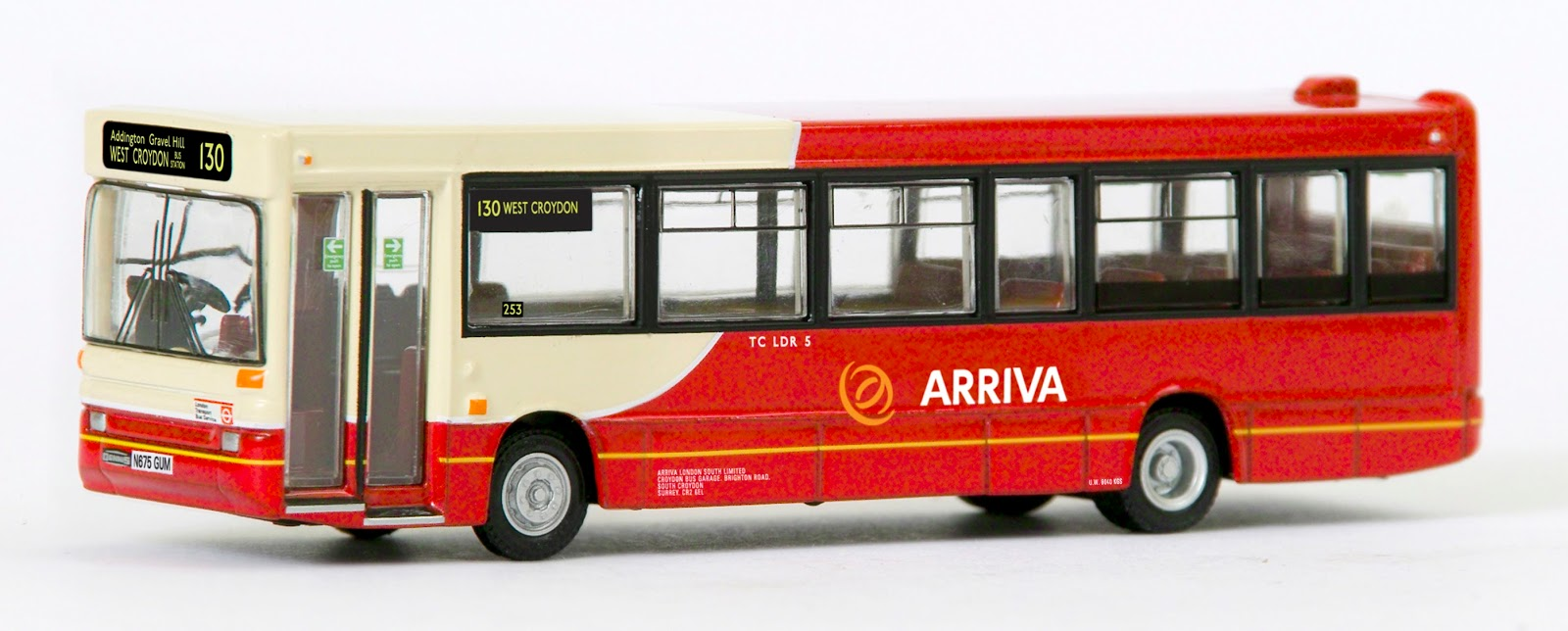 EXCLUSIVE FIRST EDITIONS 20649 PLAXTON POINTER DART ARRIVA SOUTH LONDON