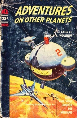 Cover of the anthology Adventures on Other Planets, edited by Donald A Wollheim