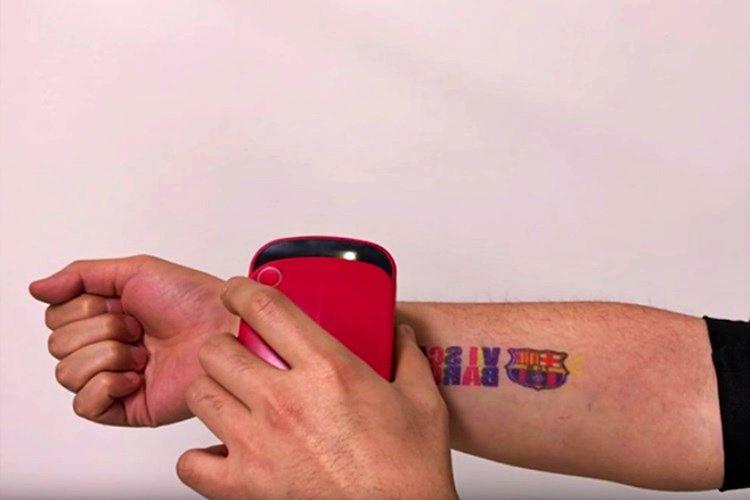 Prinker 3 saniye içinde istenilen tasarımı basan, geçici bir dövme yazıcısıdır.