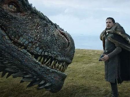 Game of thrones 7 сезон Джон Сняг и дракона