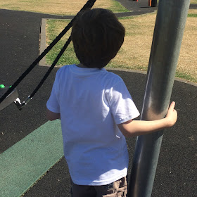 You don't need to shield your kids from my autistic children - David in the playground