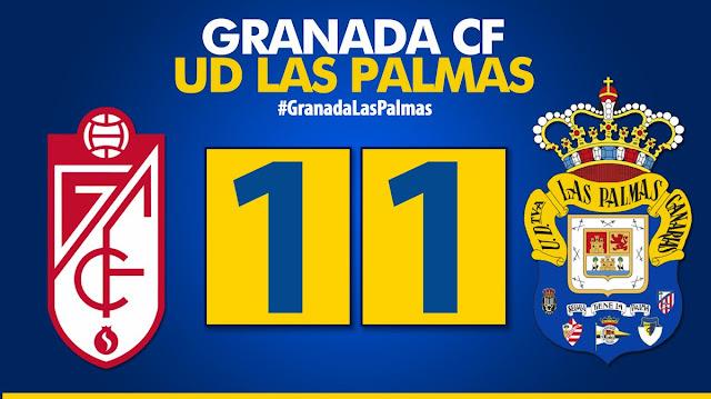 resultado final Granada 1-1 UD Las Palmas