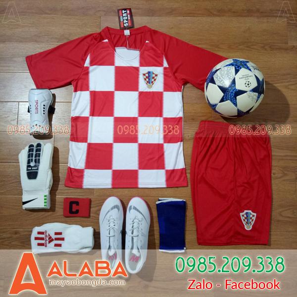 Áo Đội Tuyển Croatia 2018 Màu Đỏ Trắng