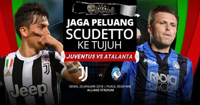 Prediksi Juventus Vs Atalanta, Senin 26 February 2018 Pukul 00.00 WIB