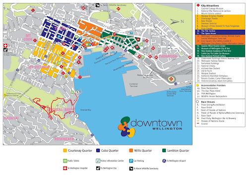 Wellington Tourist Map