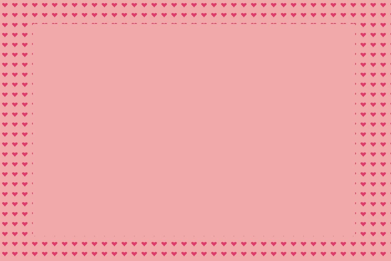 Corazones En Marrón Y Rosa: Invitaciones Para Imprimir