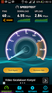 Kecepatan Internet Axis di Cilengkrang